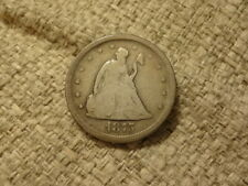1875-S Very Good+ Condition 20-Cent Piece, Really Nice Type Coin