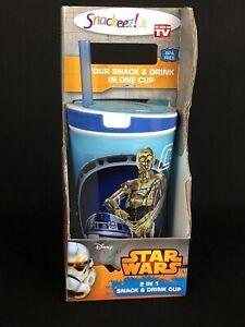 Disney Star Wars C-3PO & R2-D2 Snackeez! Jr cup NEW!AS SEEN ON TV!