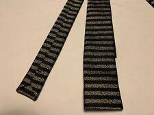FW'15 NWOT Saint Laurent Paris Striped Woven Slim Silk Tie