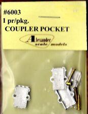 Alexander Scale 6003 HO Coupler Pocket  Pkg(2)  Screw Mount