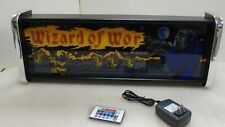 Wizard of Wor Light Up LED Arcade Marquee light box sign