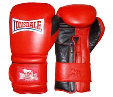 LONSDALE Red & Black Barn Burner Hook Loop Boxing Training Gloves 14 16 20oz NEW