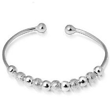 Fashion Jewellery Silver Plated Bead Bracelet Bangle womens gift