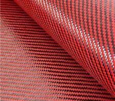 "CARBON FIBER/RED KEVLAR CLOTH FABRIC 2X2 TWILL 39.5"" 3K 5.5OZ"