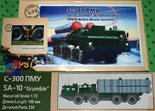 "1/72. S-300/5P85D support missile launcher scale kit,  by ""PST"" 72055 + A002"