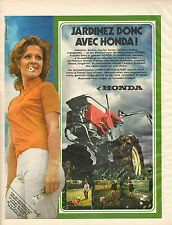 Publicité 1971  HONDA MOTOCULTURE motoculteur jardinnage