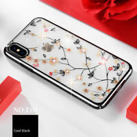 SULADA Electroplating Rhinestone Decoration Hard PC Case Cover for iPhone XR 6.1