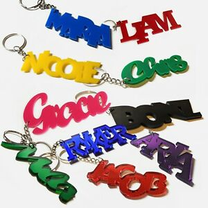 Multiple Fonts and Colors 3D Custom Text, Name Keychain| Name Tag |