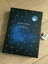 New Blue Moon Vintage Retro Paper Box Blank Journal Diary Note Book With Lock