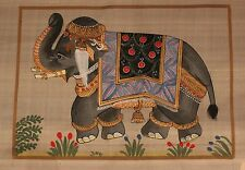 Hand Painted Ornate Elephant. Painting on Rice Fabric. Art. India. Beautiful!