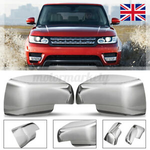 CHROME WING DOOR MIRROR COVERS FOR LAND RANGE ROVER SPORT VOGUE L322 DISCOVERY 3