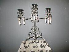 Casablanca décoration de table bois de cerf de poly 26 cm de long style maison de campagne chic en argent