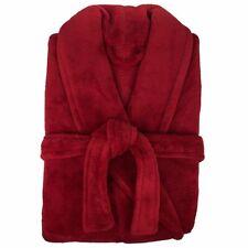 BAMBURY MICROPLUSH Bath Bed Shower Robe Shiraz/Red