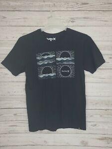 Hurley Mens Size Small Black Graphic  Short Sleeve T-Shirt EUC