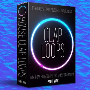 160+ CLAP LOOPS - HOUSE / TECH / DEEP / FUTURE / BASS - MULTIPLE BPM's - WAV