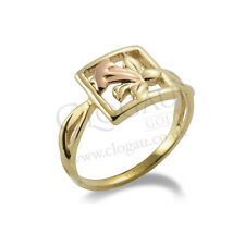 BRAND NEW Official Clogau Gold Yellow & Rose Gold St Davids Daffodil Ring SIZE O