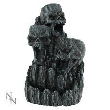 Quemador de incienso de cono cráneo reflujo titular incensario Cascada Gótico Regalo de Torre de arte