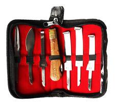 Horse Farrier Tool Changeable 6-Piece Hoof Knifes Set w/ Wooden Handle 98495
