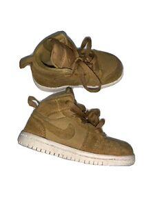 Air Jordan Retro 1 Wheat 640735-725 Hightop Shoes Child Size 7C
