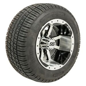 """Set Of 4 GTW 10"""" Storm Trooper Golf Cart Wheels On Low Profile Tires Combo"""