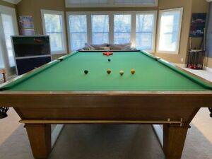 12ft x 6ft billiard - snooker table with two sets of balls and score rack