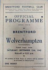 More details for brentford v wolverhampton wanderers 1945/46