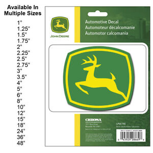 John Deere Decals Comes in 21 sizes from 1inch to 48inches! Laminated 400214