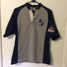 Barbarian Rugby Wear Shirt Mens Small Navy Gray Sewn Patch Numbers Outback Steak