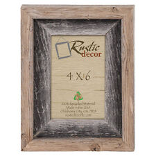 4x6 2 Wide Signature Reclaimed Rustic Barn Wood Picture Frame
