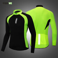 Men's Pro Cycling Jerseys Long Sleeve MTB Road Bike Riding Sports Shirts Elastic