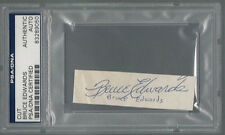 BRUCE EDWARDS SIGNED CUT BROOKLYN DODGERS PSA/DNA AUTHENTICATED AUTOGRAPH