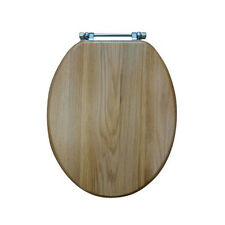 solid gold toilet seat. Natural Oak Solid Wood Toilet Seat With Adjustable Chrome Plated Hinges Heritage Gold FO100  eBay