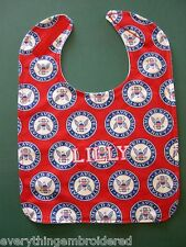 UNITED STATES NAVY NAVAL SEAL PERSONALIZED BABY BIB LG Adjustable Made in USA