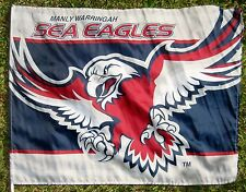 NRL MANLY WARRINGAH SEA-EAGLES FLAG  80cm x 60cm with stick NEW!