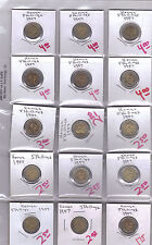 From Show Inv. - 15 NICE BI-METAL 5 SHILLING COINS from KENYA (ALL DATING 1997)