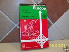 Rand McNally Freytag & Berndt Road Map of Europe 1991