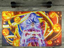 Dragon Ball Super Goku Custom playmat YuGiOh TCG CCG Mat Free High Quality Tube