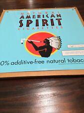 "Vintage 20"" X 20"" Metal American Spirit Sign, Menthol, Cigarette Tobacco"