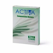 Activa Class 2 Below Knee Compression Stockings 18-24mmHg Black Small flight DVT
