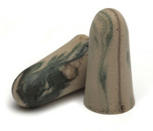 Moldex Camo Foam Disposable Earplugs, cordless 10 packages of 2 (10 Pairs) 6608
