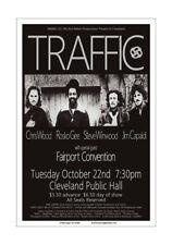 Traffic / Steve Winwood 1974 Cleveland Concert Poster
