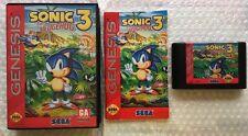 ☆ Sonic The Hedgehog 3 (Sega Genesis 1994) RARE Complete in Case Game Works ☆