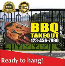 Bbq Takeout Banner Vinyl / Mesh Banner Sign Custom Phone Beef Good Meat Food