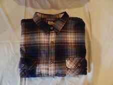 New Men's Work n' Sport Brown Plaid Long Sleeve Button Down Shirt 3Xt