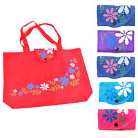 Foldable Handy Shopping Bag Reusable Tote Pouch Recycle Storage Handbag Portable