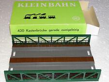 KLEINBAHN ( 420 ) TABLIER DE PONT POUR 2 VOIES EN BOITE  RESEAU H0