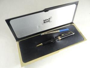 Vintage Montblanc Meisterstuck Ballpoint Pen Black Barrel Gold Accent Germany