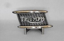 Pewter Finish Triumph Motorcycles  Metal Belt Buckle Motorcycle Belt Buckle