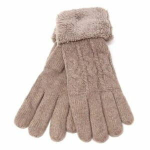 Womens Winter Snow Gloves Sleeve Warmer Warm Thick Fur Knit Thermal Insulated