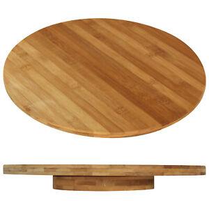 XL Drehteller Drehplatte Servierplatte drehbar Drehbrett Käseplatte Bambus Holz